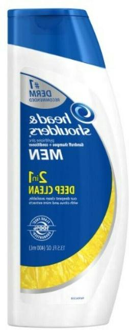 2 Head and Shoulders Mens Deep Clean 2-in-1 Shampoo and Cond