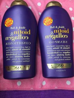 2 OGX Organix Thick & Full Biotin & Collagen Shampoo &Condit