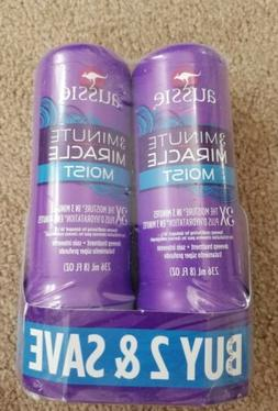 Aussie 3 Minute Miracle Moist Deep Conditioner 8 oz Free Shi