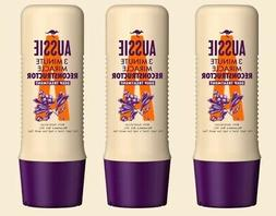 3 X Aussie 3 Minute Miracle RECONSTRUCTOR Deep Conditioner D