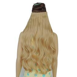 """24"""" 3/4 Full Head Curly Wave Clip in on Synthetic Hair Exten"""