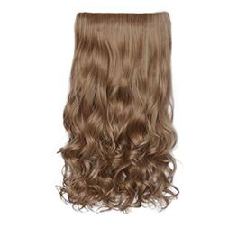 """REECHO 20"""" 1-pack 3/4 Full Head Curly Wave Clips in on Synth"""