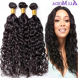 Ali Moda 9A Water Wave 3 Bundles Peruvian With 4x4 Free Part