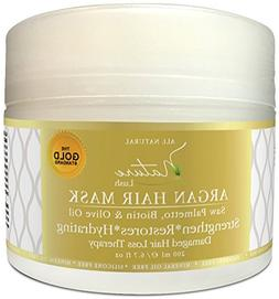 Best Organic ARGAN Hair Mask with Biotin & Olive Oil – Nat