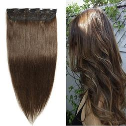 Clip in Remy Human Hair Extensions One Piece 5 clips 100% Re
