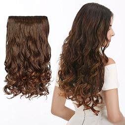 """CNLONG 20"""" Wave Curly Hair extension 3/4 Full Head Clips In"""