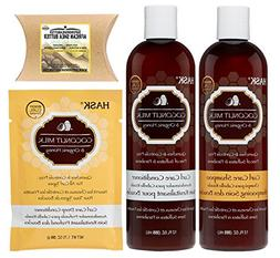 Hask Coconut Milk & Organic Honey Haircare Set with Superior
