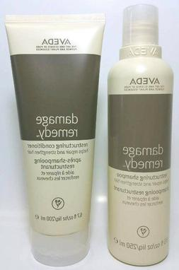 AVEDA Damage Remedy SHAMPOO 8.5 oz AND CONDITIONER 6.7 oz du