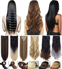 3-5 Days Delivery 7Pcs 16 Clips 23 24 Inch Real Thick Curly