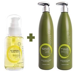 Hair Growth Shampoo and Conditioner Bundle with Hair Oil - D