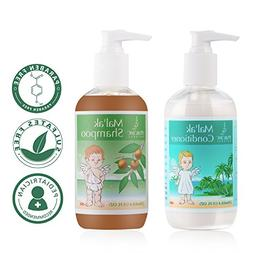 Mal'ak Premium Natural Shampoo and Hair Conditioner for Baby