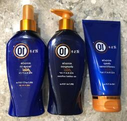 Its A 10 Miracle Combo SeT Shampoo Plus Deep Conditioner &Le