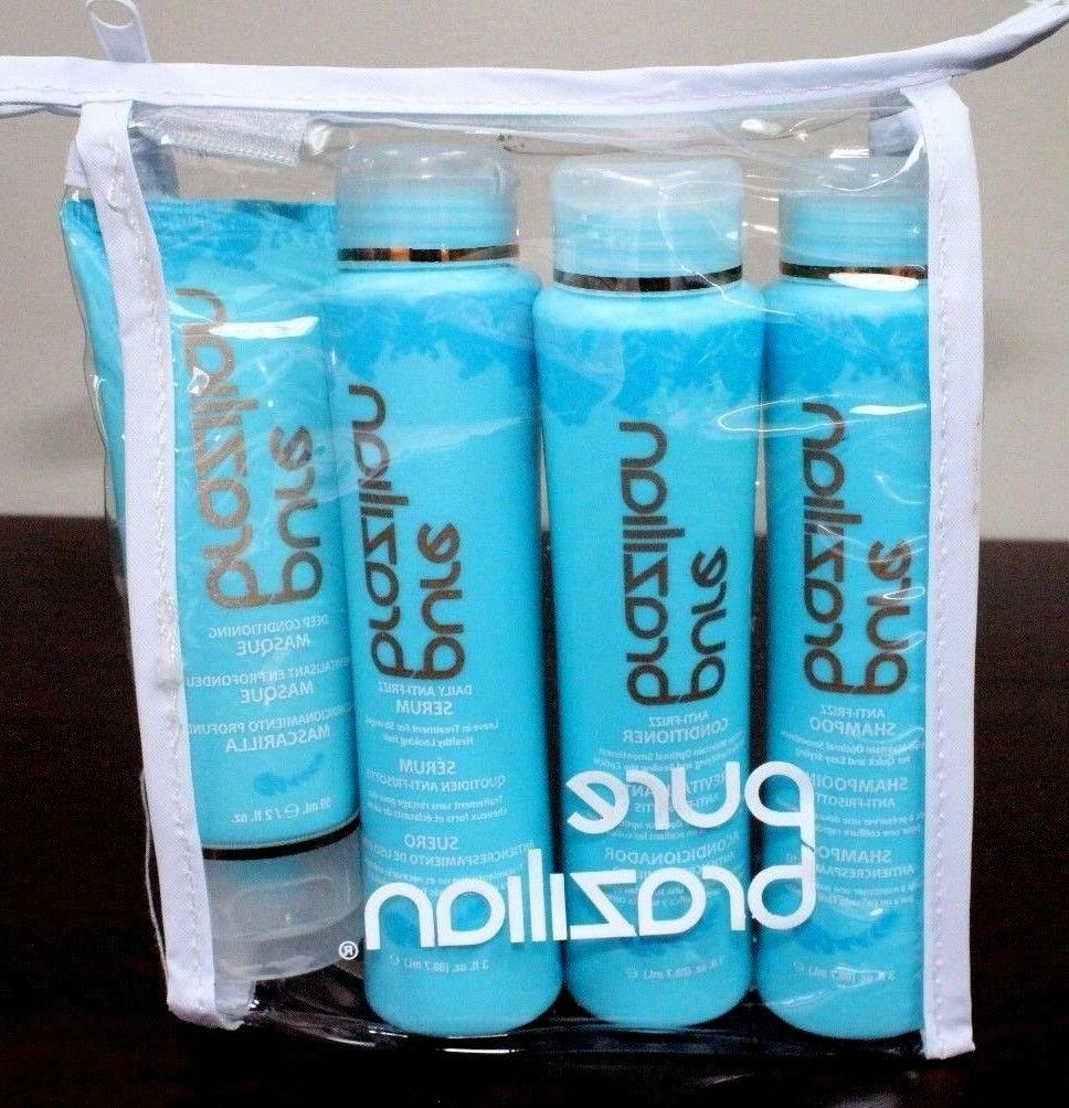 4 piece travel kit shampoo conditioner serum
