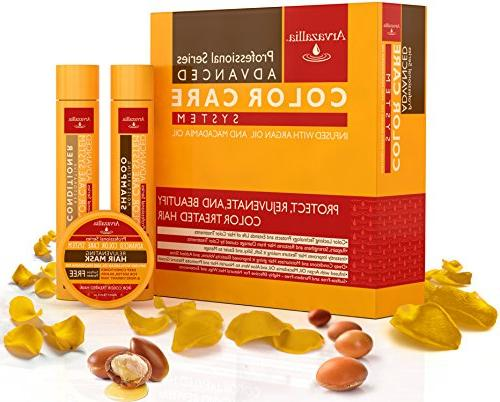 Advanced Free Set for Color Treated Hair Argan Oil and Arvazallia - Conditioner, and Conditioner Hair Mask