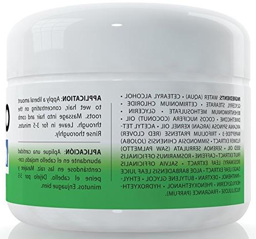 Amplixin Hair Mask - Deep Treatment Coconut Argan - Sulfate Free For With Dry, Damaged Hair, 8oz