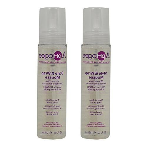 "ApHogee Style & Wrap Mousse 8.5oz""Pack of 2"""