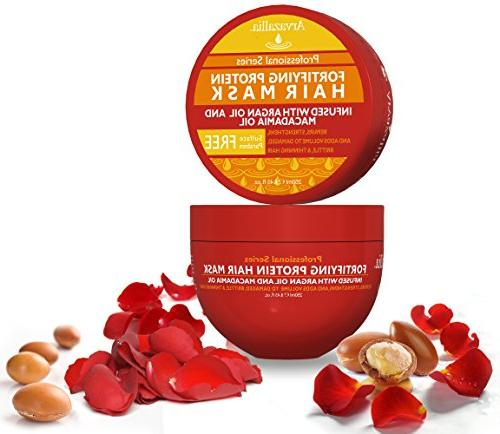 Fortifying and Deep Conditioner with Argan Oil and Macadamia Oil By Hair Repair for Damaged, or Hair Growth