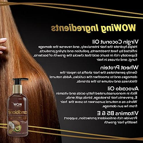 WOW Deep Dry Thin Damaged Hair Enriched with Coconut, Oil, Argan Oil, - & E Sulfate - 10 Fl