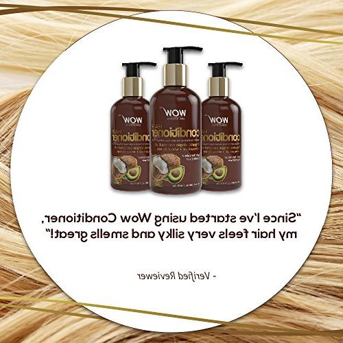 WOW Deep Hair Conditioning for Dry Thin & Hair - Coconut, Argan Jojoba - E Sulfate Free - Fl Oz