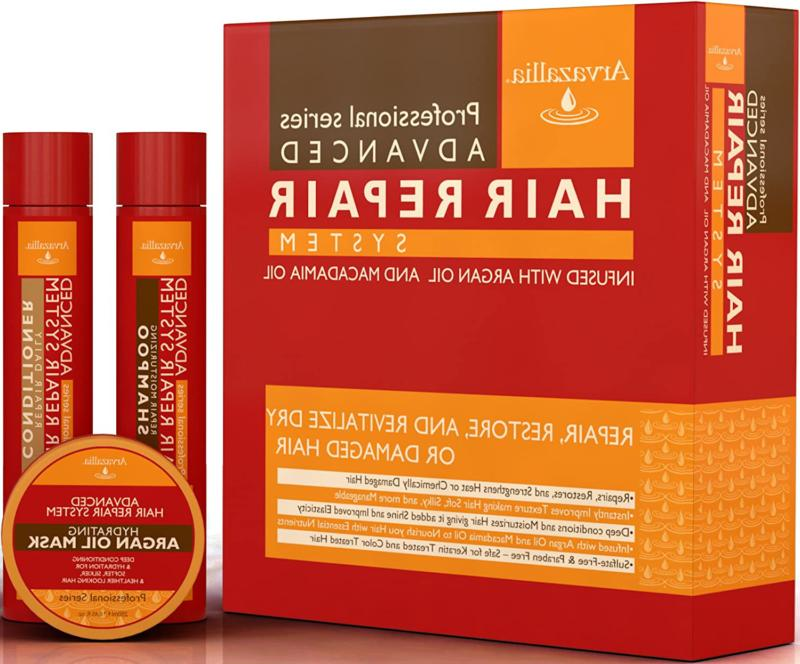 Advanced Hair Repair And Conditioner Set With Argan Oil And Oi