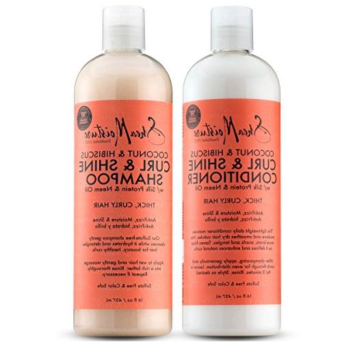Shea Moisture Coconut and Hibiscus Curl and Shine Combinatio