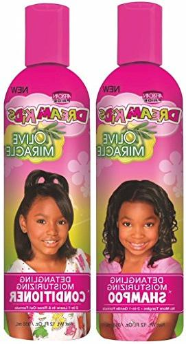 African Pride Dream Kids Olive Miracle Detangling Shampoo an