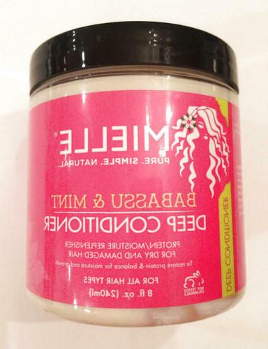 mielle babassu and mint deep conditioner all