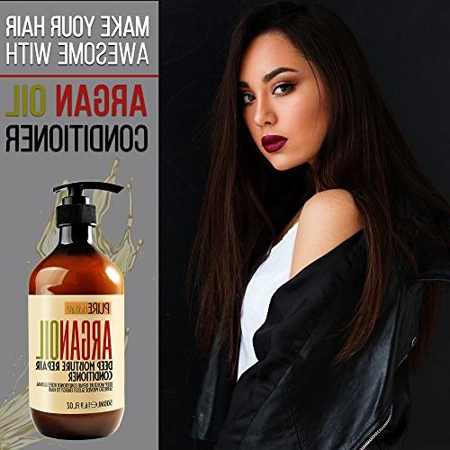 Moroccan Argan Oil SLS Sulfate - for Dry, or Hair - Thickening for Thin Hair, Color and Hair