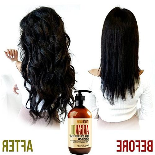 Moroccan Argan Oil Conditioner SLS Free - Hair Conditioner for Damaged, Dry, or Thickening Fine Thin Color and