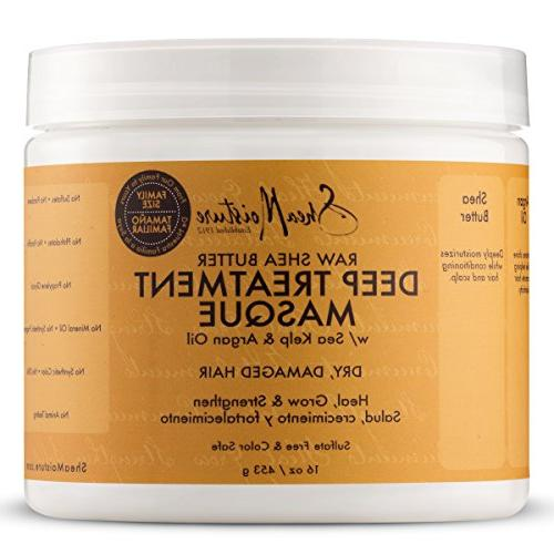 Shea Raw Treatment Masque, 16 Ounce Jamaican Black Strengthen and Conditioner, 16