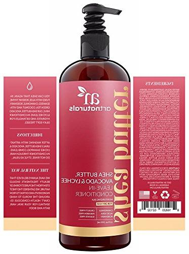ArtNaturals Butter Leave-In Conditioner Butter, Avocado and – Damaged Hair Moisturizing and Restorative Types of Hair - Sulfate Free