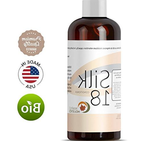 Silk18 Conditioner Women with Safe Hair with Pure Oil Amino Acids Shea Sea Buckthorn Oil Jojoba