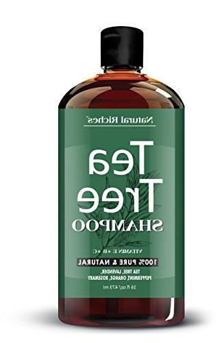 Tea Tree Shampoo and by Natural Riches Free, Deep for Dandruff, & Itchy - Men & Women