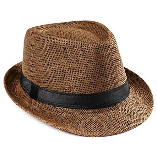 summer crushable packable straw fedora