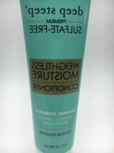 Deep Steep Weightless Moisture Conditioner 10 Sulfate-Free NEW C31
