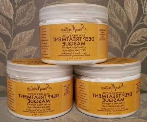 x3 raw shea butter deep treatment masque