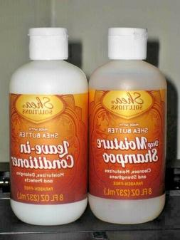 Shea Solutions Leave-in Conditioner & deep Moisture Shampoo