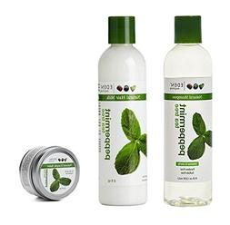 EDEN BODYWORKS PEPPERMINT TEATREE COLLECTION SHAMPOO  + HAI