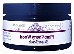 Flowersong Plum Cherry Wood Sugar Scrub - Soften, Moisturize