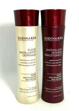 Keranique Shampoo & Conditioner Duo Deep Hydration ~ 8 oz ~