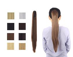 "Focussexy 21"" Straight Ponytail with Jaw/Claw in Hair Extens"