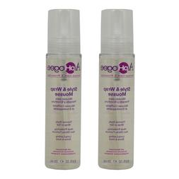 "ApHogee Style & Wrap Mousse 8.5oz ""Pack of 2"" w/Free Nail Fi"