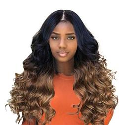 "Cinhent 26""/ 65CM Fashion Synthetic Brown Long Curly Hair Wi"